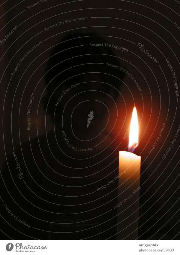 Kerzenschein Licht dunkel Nacht Häusliches Leben Lichterscheinung