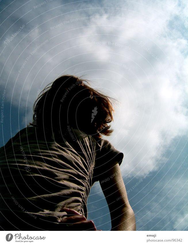 Wuschelkopf II Mensch Himmel Freude oben Kopf Haare & Frisuren Perspektive unten Idee Langeweile