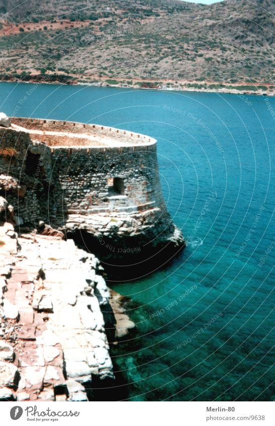 Alte Lebrastation auf Kreta Festung Europa Sonne blaues Wasser