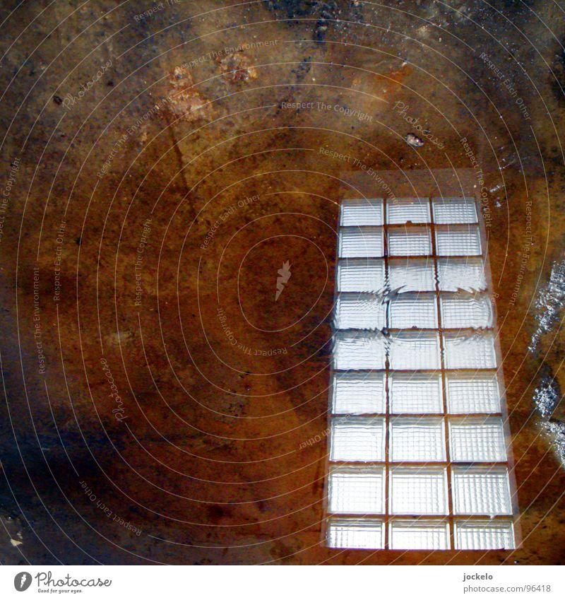 Room With A View Fenster Reflexion & Spiegelung Baustelle Glasbaustein Beton Betonboden Bodenbelag Handwerk Industrie Vergänglichkeit Window Wasser