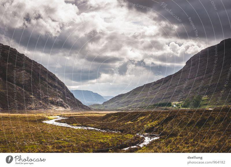 in einem Land vor unserer Zeit Umwelt Natur Landschaft Himmel Wolken Frühling Sommer Klima Wetter Schönes Wetter Wiese Feld Hügel Felsen Berge u. Gebirge Bach