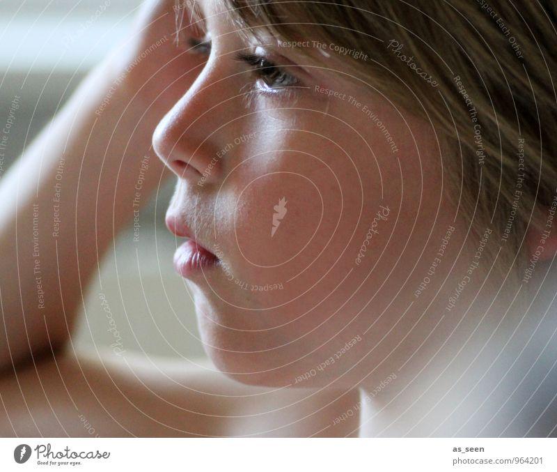 Profil Mensch Kind schön ruhig Gesicht Leben Junge natürlich braun Schule Familie & Verwandtschaft maskulin Häusliches Leben blond authentisch Kindheit