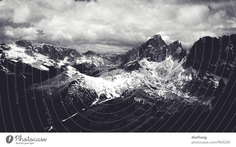 Ausflug ins Graue VII Umwelt Natur Landschaft Himmel Wolken Frühling Sommer Wetter Schönes Wetter Felsen Alpen Berge u. Gebirge Gipfel Schneebedeckte Gipfel