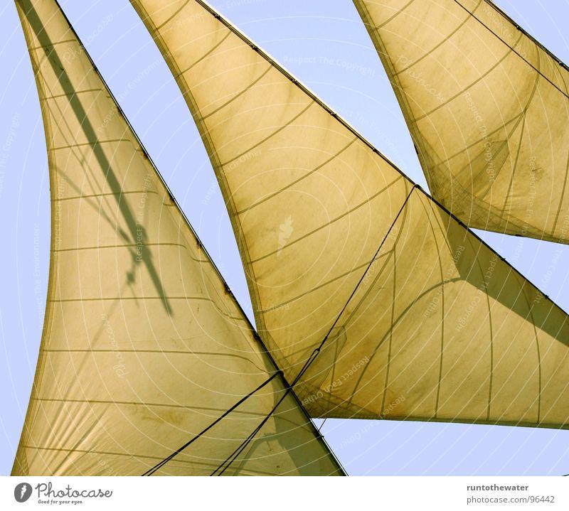 Volle Fahrt voraus! Segelschiff Wasserfahrzeug Kunst Meer unterwegs Fernweh Segeln Ausflug Navigationssystem Luv Sport Ostsee Freiheit segel setzen volle Fahrt
