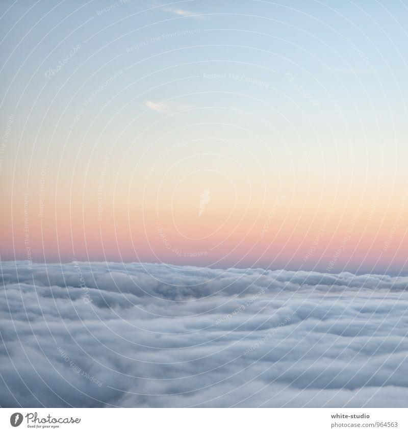 Wolkenmeer Umwelt Natur Klima Wetter Schönes Wetter träumen schön Himmel (Jenseits) himmelblau Unendlichkeit Wolkenformation Wolkenschleier Wolkenfeld Horizont