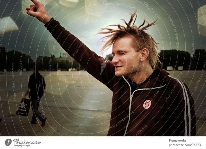 Bang Boom Bang Rastalocken schütteln Kopfschütteln Finger Millerntor Punkrock Licht Freizeit & Hobby genießen Freude Klaus Haare & Frisuren Fingerpointen