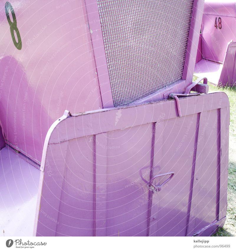 p. hilton, häftlingsnummer 8 rosa Ziffern & Zahlen Typographie Strandkorb Korb Sonnenbad Erholung Ferien & Urlaub & Reisen Wochenende Wannsee See transpirieren