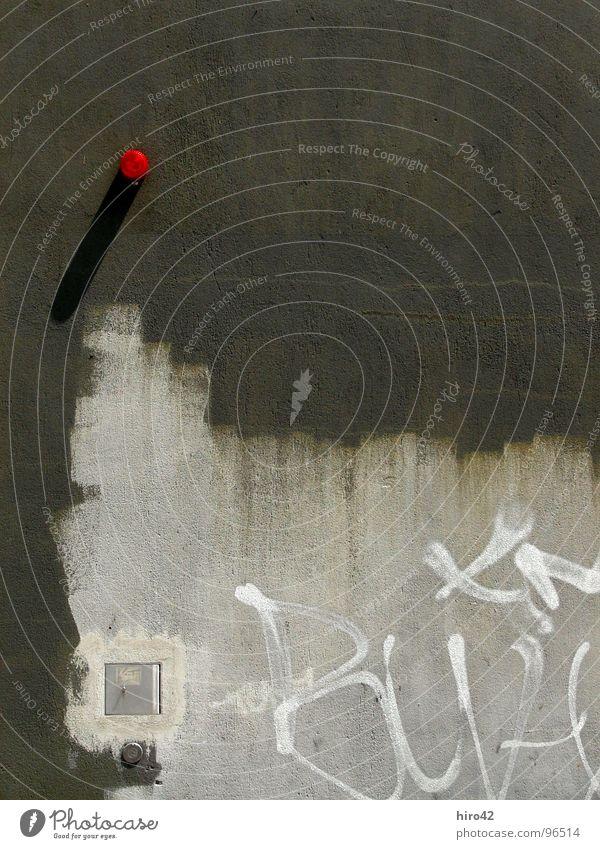 The Wall Wuppertal Wand Tagger Alarm rot Mauer Hintergrundbild Industrie Grafitti