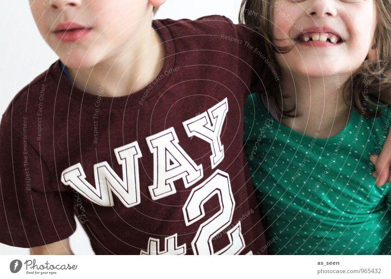 Way2Go Mensch Kind Mädchen Gesicht Leben feminin Junge gehen Schule Freundschaft Familie & Verwandtschaft Zusammensein maskulin blond authentisch Kindheit