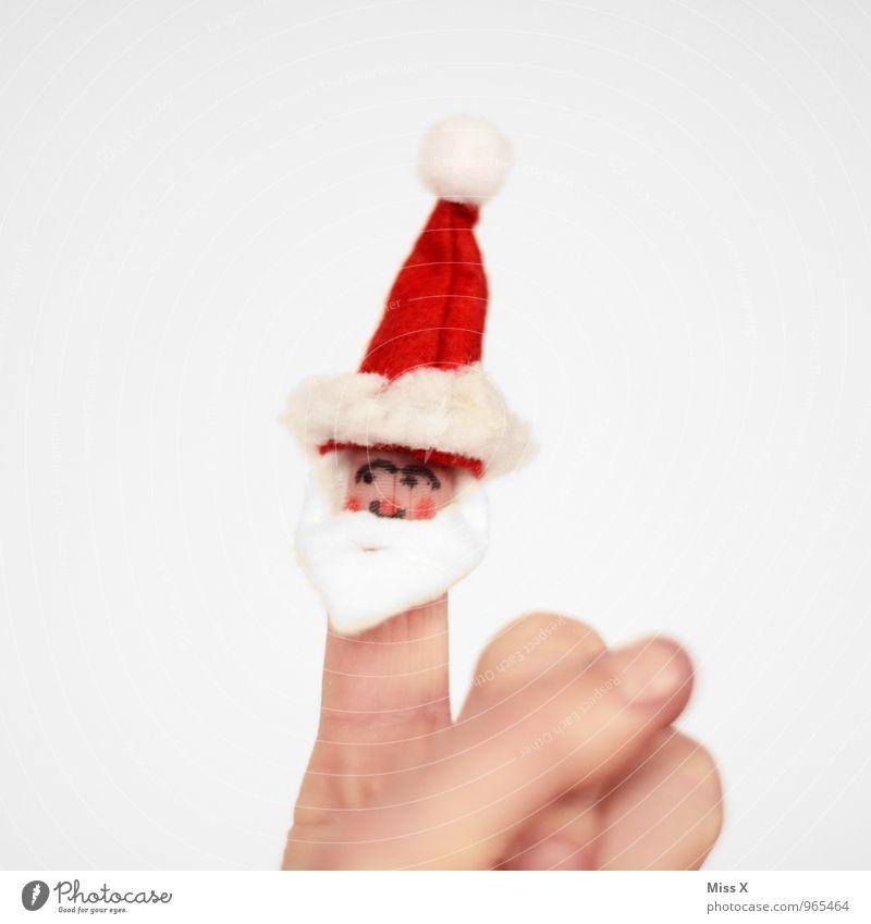 ho ho ho Freizeit & Hobby Spielen Kinderspiel Weihnachten & Advent maskulin Hand Finger 1 Mensch 45-60 Jahre Erwachsene 60 und älter Senior Mütze weißhaarig