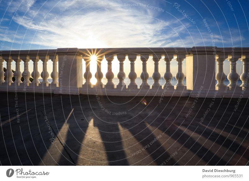 *900* - Moment des Lichtes Meditation Ferien & Urlaub & Reisen Sommerurlaub Natur Schönes Wetter Küste Balkon Terrasse blau gelb schwarz weiß Optimismus Erfolg