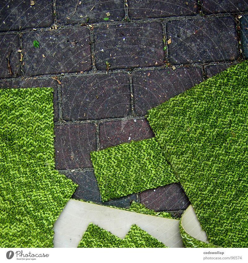 gehweg verbesserung grün Landschaft Bürgersteig Quadrat Handwerk Stapel Renovieren Haushalt ziehen bequem Rechteck gewebt Schaumstoff Mull