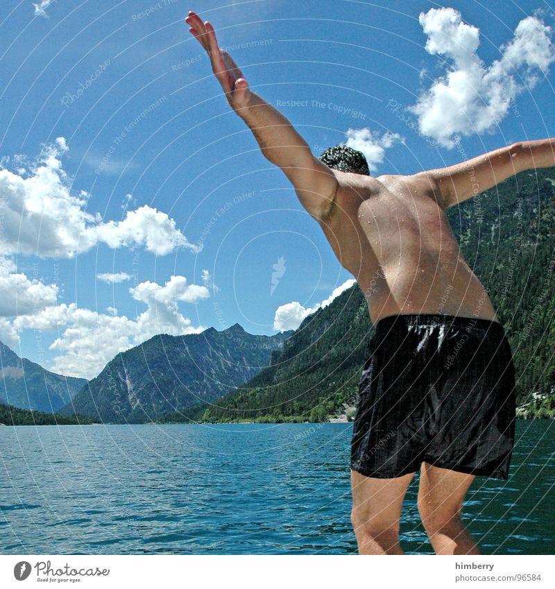refresh royal IV Mann Hand Wasser Himmel springen Berge u. Gebirge See Wasserfahrzeug Schwimmbad Hinterteil tauchen Brust Schwimmen & Baden Österreich