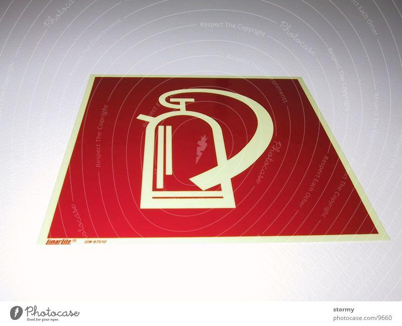 Feuerlöscher Brand Industrie Zeichen Symbole & Metaphern Brandschutz