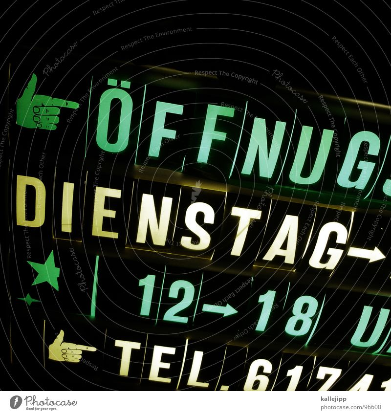tag der offenen tür schwarz springen Lampe Arbeit & Erwerbstätigkeit Deutschland Zeit sitzen Schilder & Markierungen geschlossen Beginn Uhr Schriftzeichen