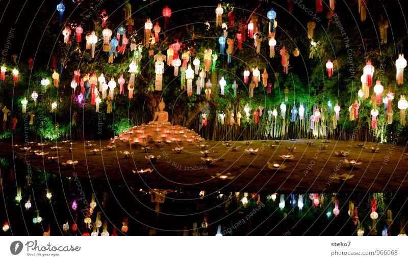 Lichterfest Glück Religion & Glaube Dekoration & Verzierung Asien Gelassenheit Tradition exotisch Lampion Thailand Kerzenschein Buddhismus