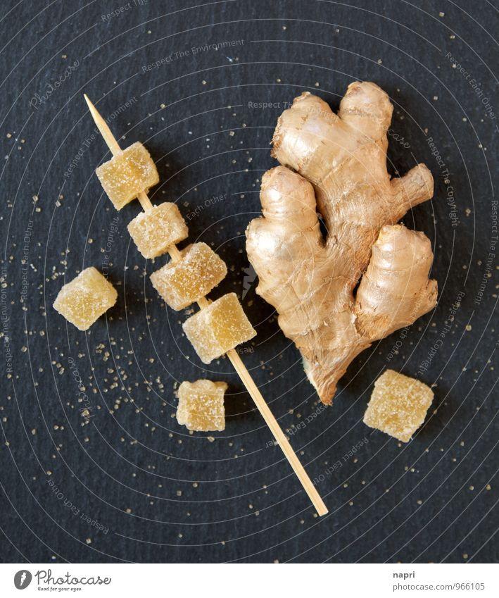 Ingwer kandiert I schwarz Gesunde Ernährung gelb Gesundheit Lebensmittel gold genießen Kochen & Garen & Backen Kräuter & Gewürze Bioprodukte Diät Zucker