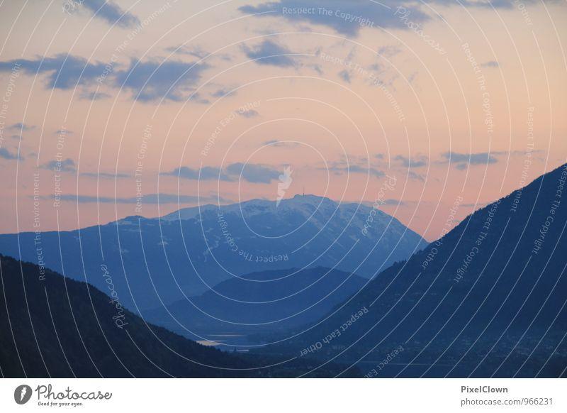Alpen Ferien & Urlaub & Reisen blau weiß Landschaft ruhig Berge u. Gebirge Stein außergewöhnlich Stimmung Felsen träumen Tourismus wandern Lebensfreude Romantik