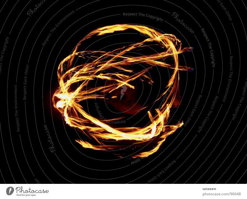 bumpier ball_aber sowas von mittig Licht Feuerball weiß Ausstellung Spielen Brand Ball fire poi Kreis Kugel Linie denn schau doch hin