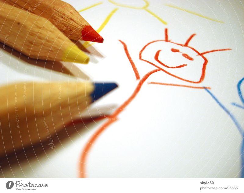 Montagsmaler Kinderzeichnung anmalen Leidenschaft Aktion Farbe Schreibstift Farbstifte zeichnen Künstler Kunstunterricht Basteln Kindheit Schule farben