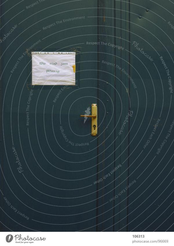 SIEHE ZETTEL ! grün lustig Arbeit & Erwerbstätigkeit Tür gold Schriftzeichen Information Wissenschaften Handwerk Eingang obskur Zettel Foyer Griff Aufenthalt aufmachen