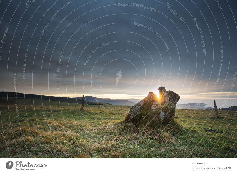 Es war einmal Himmel Natur Ferien & Urlaub & Reisen alt Pflanze Sonne Baum Landschaft Wolken Ferne Umwelt Berge u. Gebirge Wiese Gras Freiheit Wetter