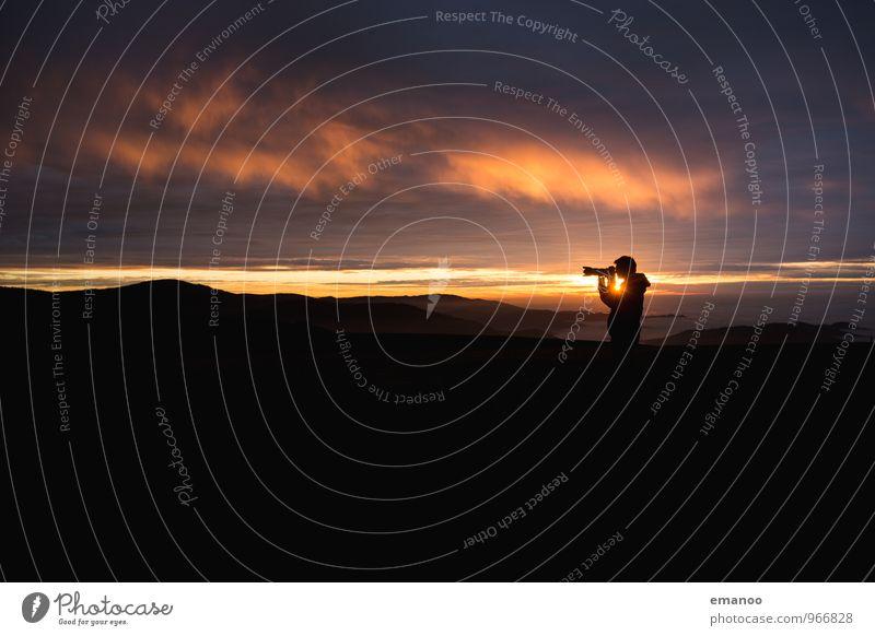 sunset shooter Lifestyle Freude Freizeit & Hobby Ferien & Urlaub & Reisen Tourismus Ausflug Abenteuer Ferne Freiheit Berge u. Gebirge wandern Fotokamera