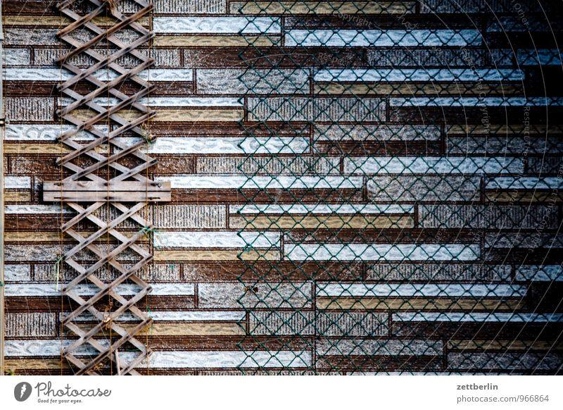 Laube Dekoration & Verzierung Garten Schrebergarten Kleingartenkolonie Gartenhaus Fassade verkleidung Wandverkleidung Tapete Kletterpflanzen Ranke Gestell
