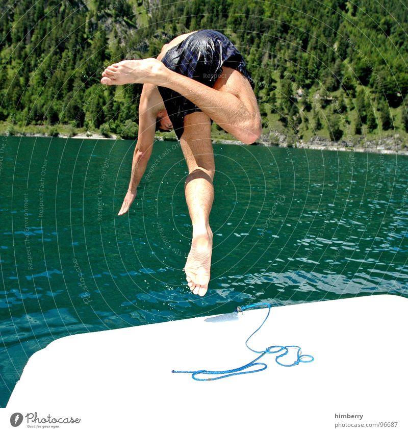 refresh royal V Mann Hand Wasser Sport springen Spielen Berge u. Gebirge See Wasserfahrzeug Schwimmbad tauchen Schwimmen & Baden Österreich Erfrischung Segelboot Kopfsprung