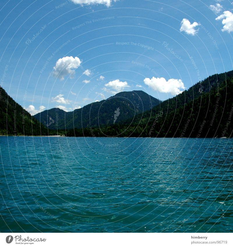 sunny side up Wasser Himmel Wolken Berge u. Gebirge See Alpen Österreich