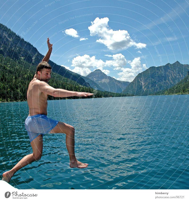 refresh royal VI See Mann Erfrischung Tretboot Wasserfahrzeug Segelboot Schwimmbad Österreich springen tauchen Hand Berge u. Gebirge Wassersport jugentlicher
