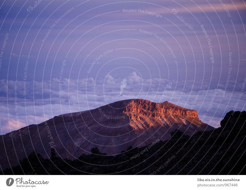 sonnenuntergang auf teneriffa Umwelt Natur Landschaft Ferne Wolken Teneriffa Sonnenuntergang Berge u. Gebirge Farbfoto