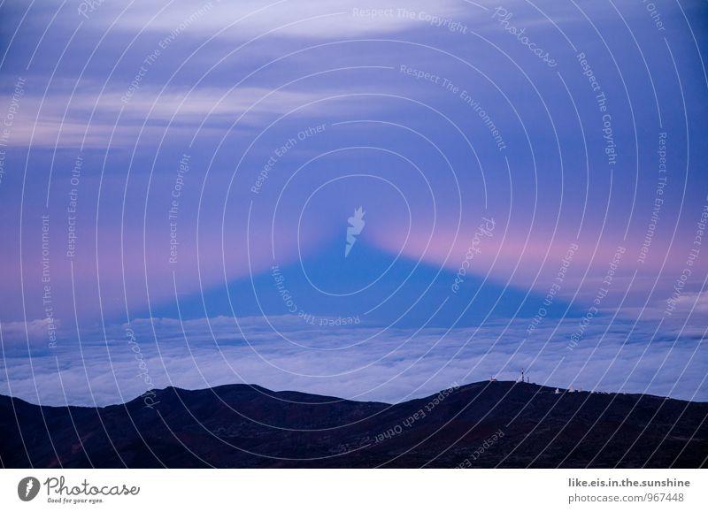 Der Schatten des Teide Umwelt Natur Landschaft Vulkan Teneriffa Sonnenuntergang Berge u. Gebirge Farbfoto