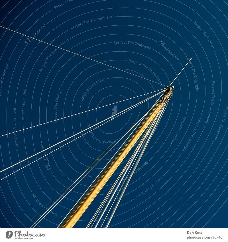 Petri Seil blau weiß Baum Sommer Ferien & Urlaub & Reisen gelb Freiheit See Lampe hell Wasserfahrzeug Wind Beleuchtung Seil Insel Elektrizität