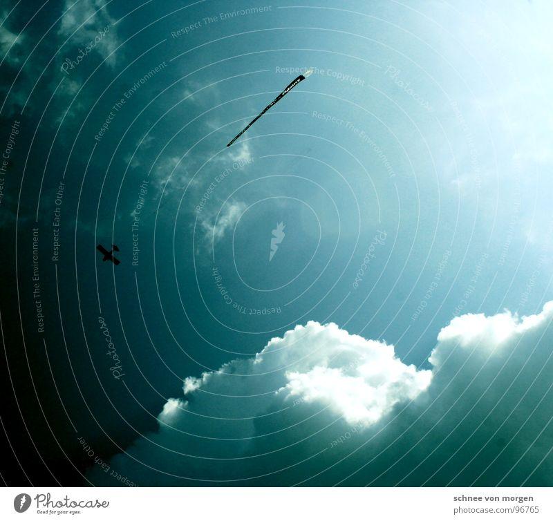 verkaufsförderung Wolken Flugzeug weiß Schal Himmel Sportveranstaltung Konkurrenz clouds sky