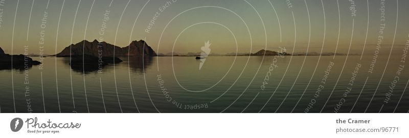 -----oo o------------o------------- Panorama (Aussicht) Meer Norwegen Sonnenuntergang Mitternachtssonne Reflexion & Spiegelung Horizont Küste Stimmung schön