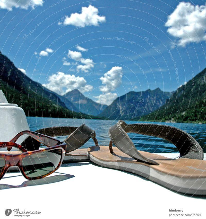 refresh royal VII Himmel Wasser Sommer Wolken Spielen Berge u. Gebirge See Wasserfahrzeug Schwimmen & Baden Freizeit & Hobby Brille Sonnenbrille Flipflops