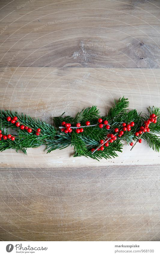 weihnachts decoration stechpalme Weihnachten & Advent Innenarchitektur Stil Lifestyle Wohnung Häusliches Leben elegant Dekoration & Verzierung Sträucher retro