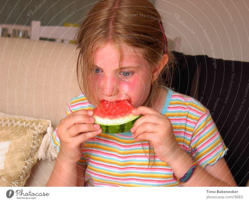 Theresia´s Melone Wassermelone Kind Mädchen Ernährung Mensch Lebensmittel Natur Tränen Müdigkeit