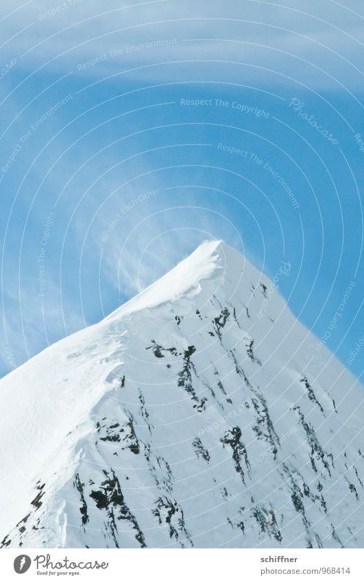 Stürmische Jungfrau Winter Klima Klimawandel Wetter Schönes Wetter Wind Sturm Eis Frost Schnee Alpen Berge u. Gebirge Gipfel Schneebedeckte Gipfel Gletscher