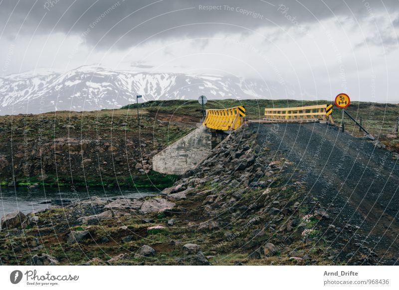 Island Himmel Natur Ferien & Urlaub & Reisen Wasser Einsamkeit Landschaft Wolken Ferne Umwelt Straße Wiese Wege & Pfade Freiheit Felsen Erde Tourismus