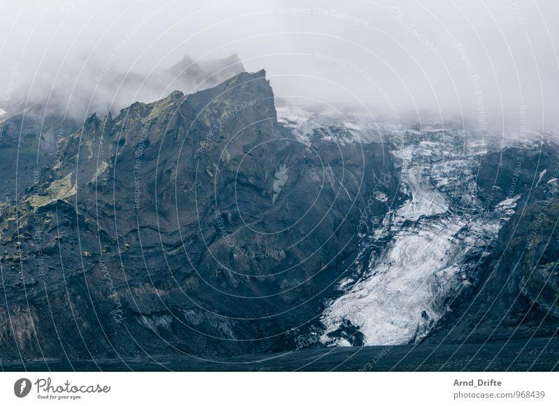 Gletscher Island Himmel Natur Ferien & Urlaub & Reisen Einsamkeit Landschaft Wolken Ferne Winter Umwelt Berge u. Gebirge Schnee Freiheit Felsen Eis Wetter Regen
