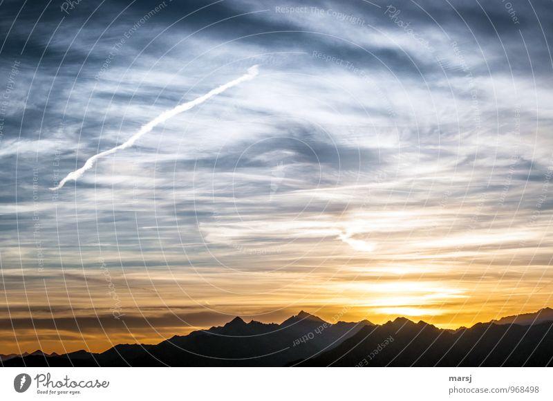 a bsoffener Pilot? Natur Landschaft Himmel Wolken Sonnenaufgang Sonnenuntergang Sonnenlicht Sommer Herbst Wetter Schönes Wetter Alpen Berge u. Gebirge