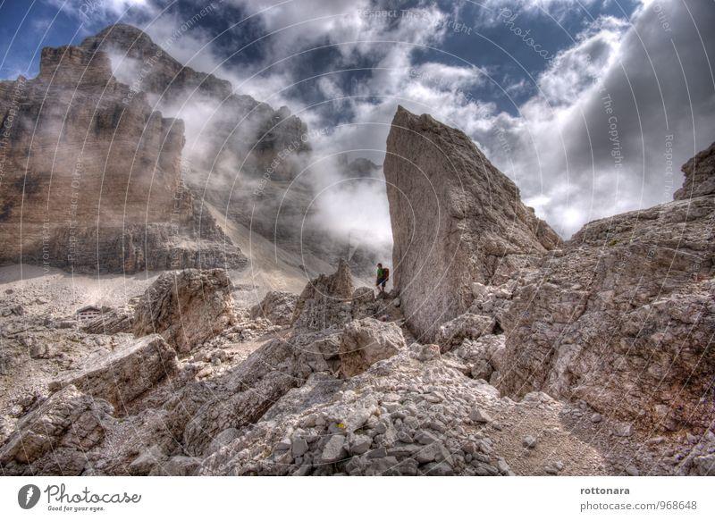Tofana De Rozes - the great mountain Mensch Himmel Natur Wolken Berge u. Gebirge Sport Freiheit gehen Felsen Idylle Nebel wandern genießen Abenteuer Alpen