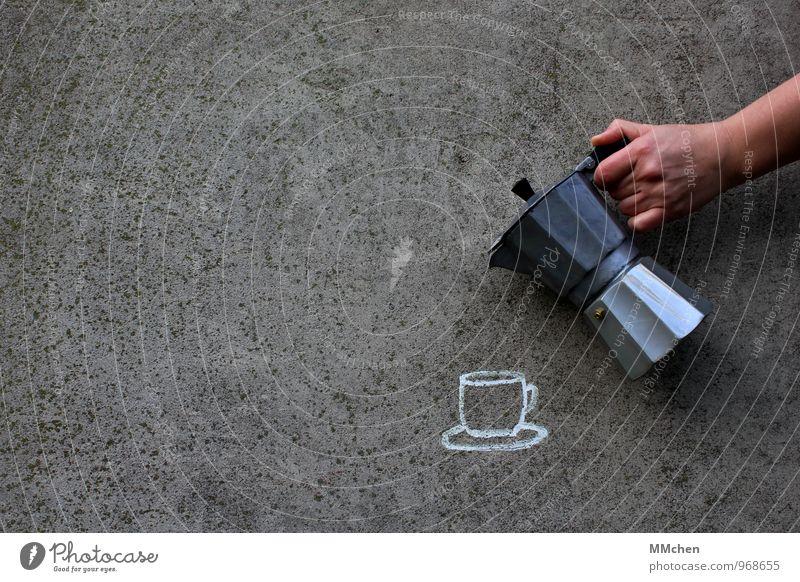 Zeit für`n Kaffee? Erholung Hand sprechen Glück grau Lifestyle Feste & Feiern Freundschaft Geburtstag genießen Getränk Ausflug Beton trinken Bar