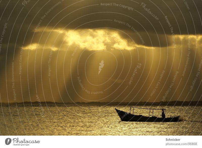 Vom Himmel herab Himmel Meer Wolken Einsamkeit Wasserfahrzeug Beleuchtung Gott Brasilien Götter Fischer