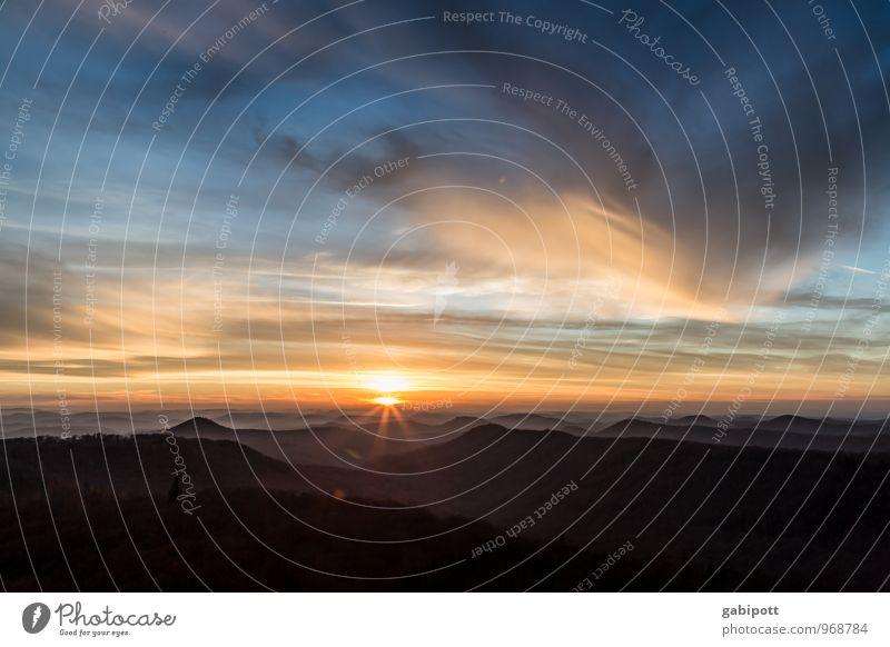 Südpfalz | ... Himmel Natur Ferien & Urlaub & Reisen blau Erholung Landschaft ruhig Wolken Ferne Wald Umwelt Berge u. Gebirge Leben Herbst natürlich Freiheit