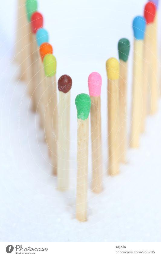 anführer Holz stehen mehrfarbig Team Teamwork Zusammenhalt Hilfsbereitschaft Führer führen Zusammensein Reihe standhaft Gesellschaft (Soziologie)