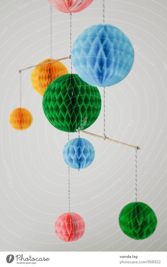 Mobile Freizeit & Hobby Basteln Häusliches Leben Wohnung Kinderzimmer Kindheit selbstgemacht wabenbälle Dekoration & Verzierung Kindergarten Kinderbett Farbfoto