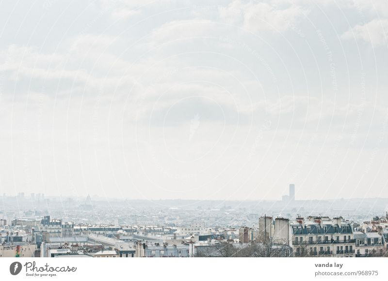 Paris Himmel Stadt Haus Hochhaus Unendlichkeit Hauptstadt Stadtzentrum Frankreich Altstadt Montmartre